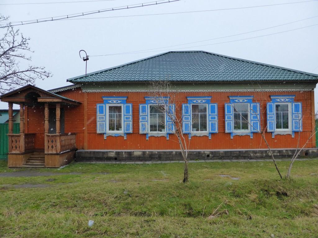 Typisches sibirisches Holzhaus