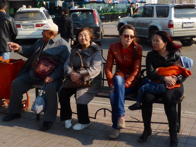 Locals in Ulan Ude