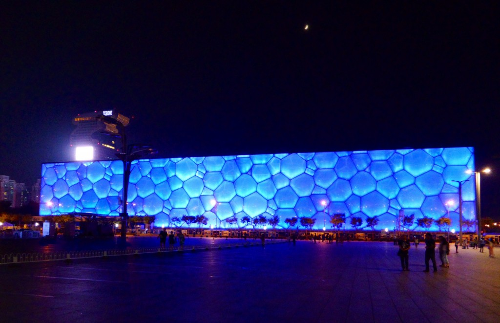 Olympic Water Cube bei Nacht