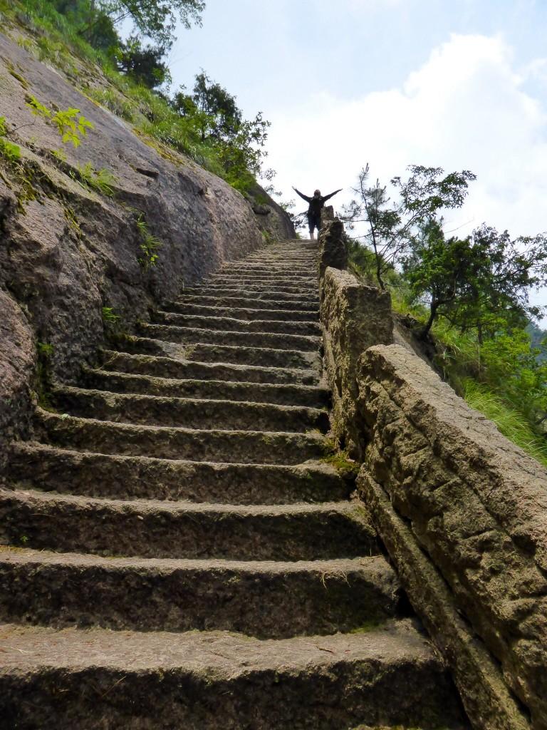 Juhu - ein (vorläufiges) Treppenende