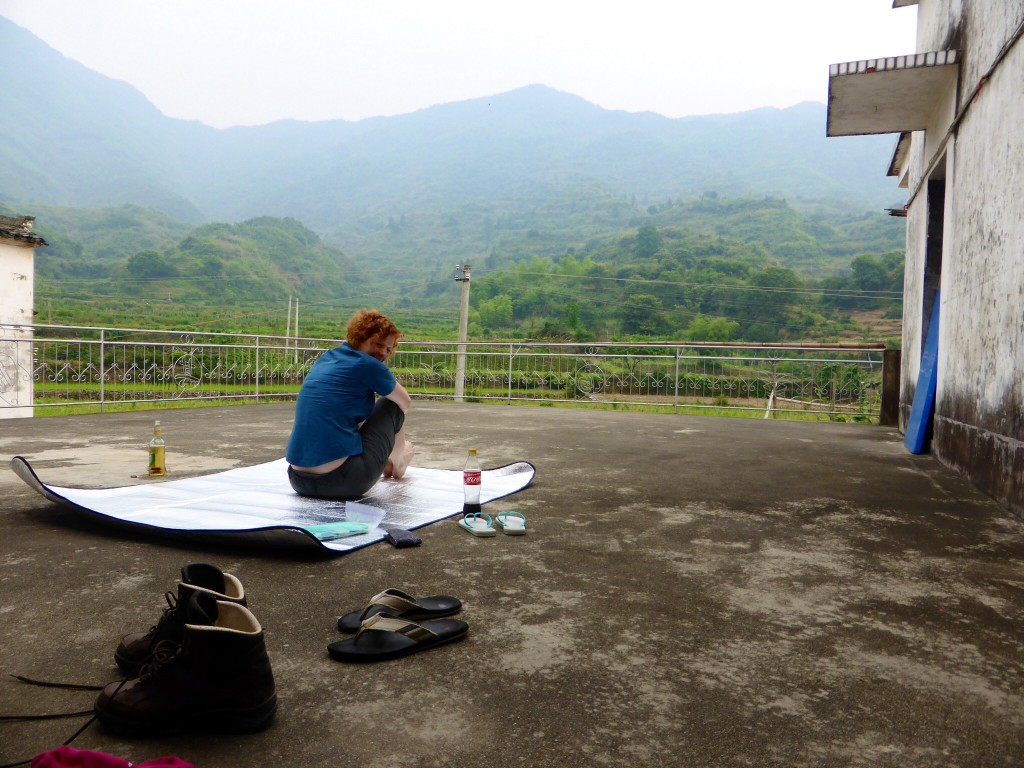 Unsere Dachterrasse in Linjiao