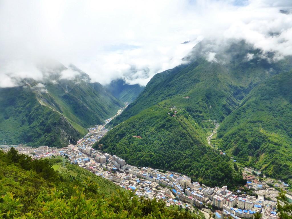 Blick auf Kangding