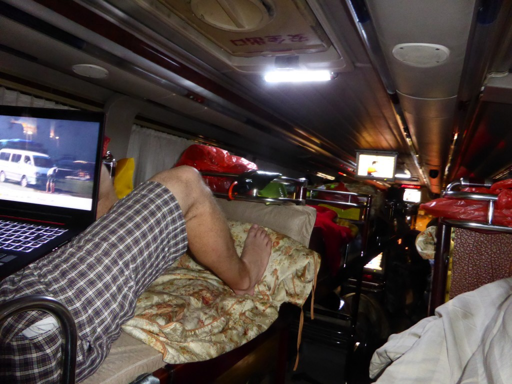 Im Nachtbus nach Hong Kong
