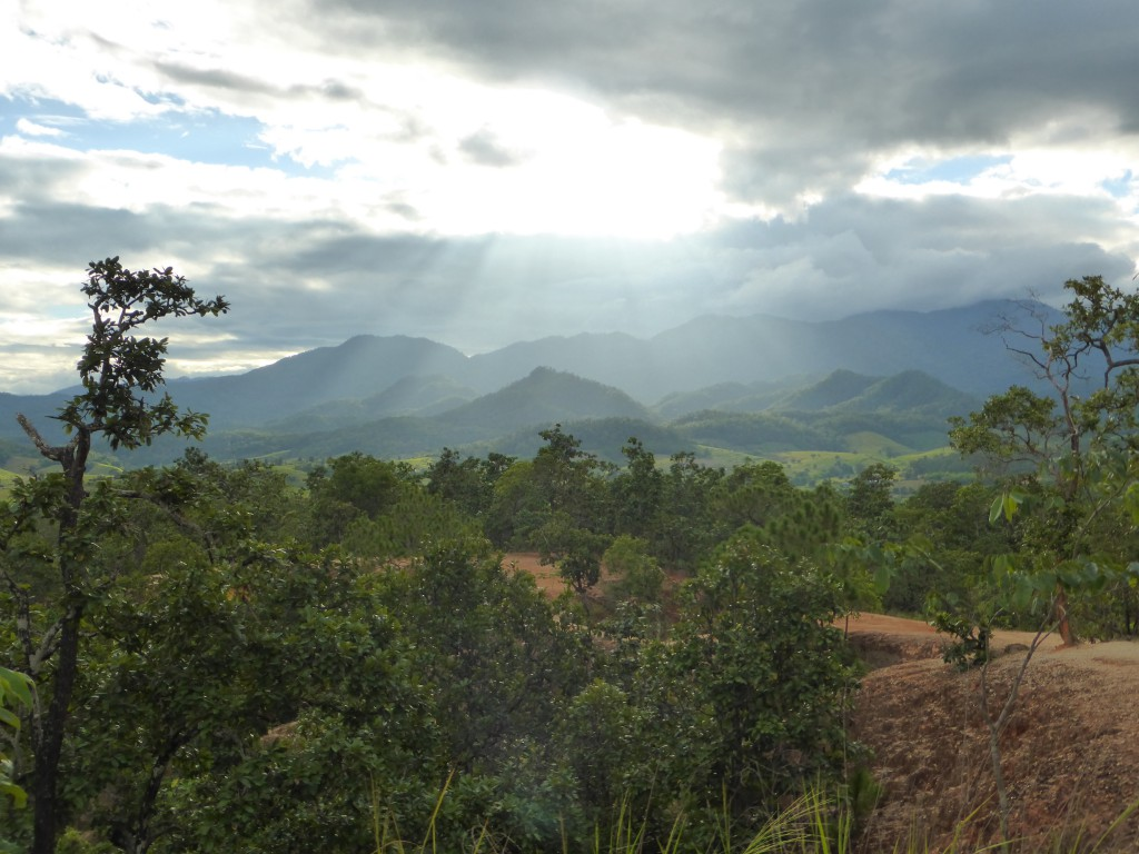 Blick über die Umgebung von Pai