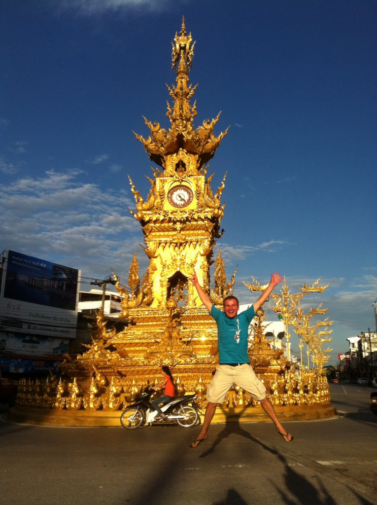 Der antike Clocktower in CHiang Rai
