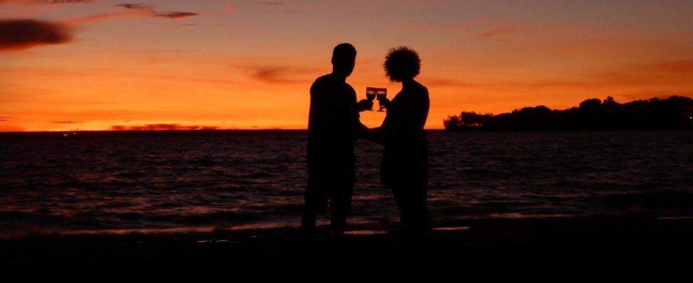 Passender Sonnenuntergang zu Heilig Abend