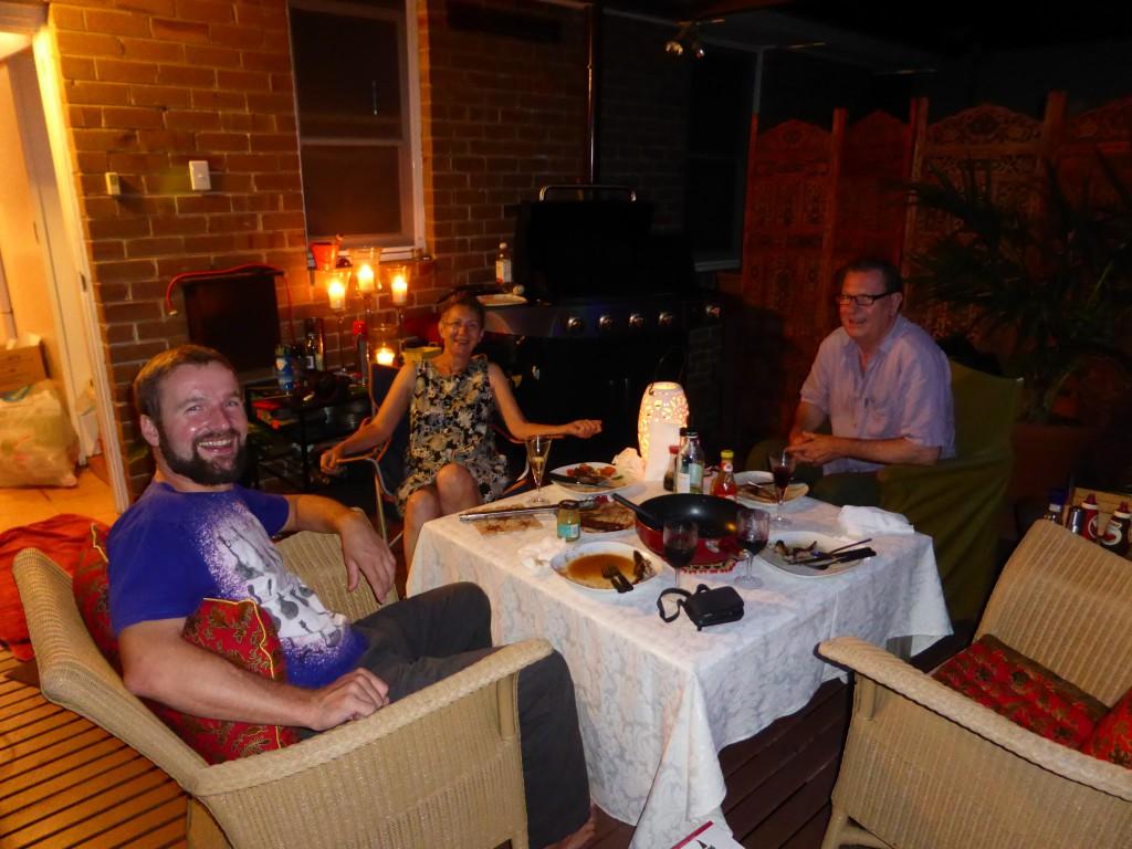 BBQ mit unserer Vermieterin Gail und John