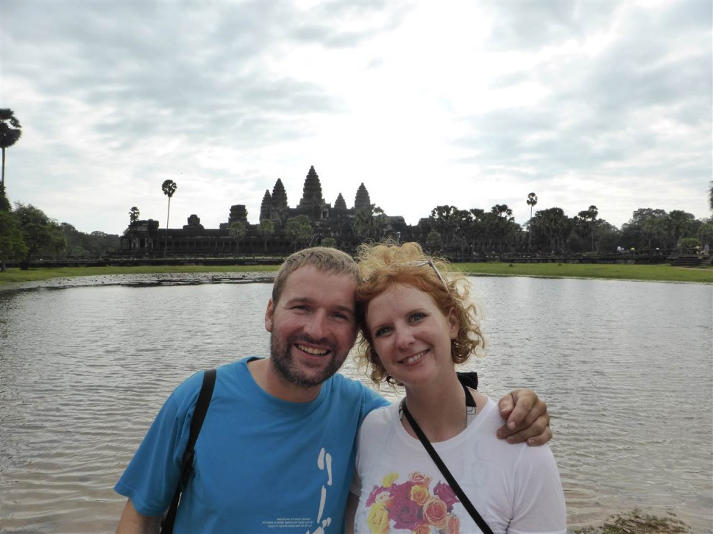 verstrubbelt vor Angkor Wat :-)