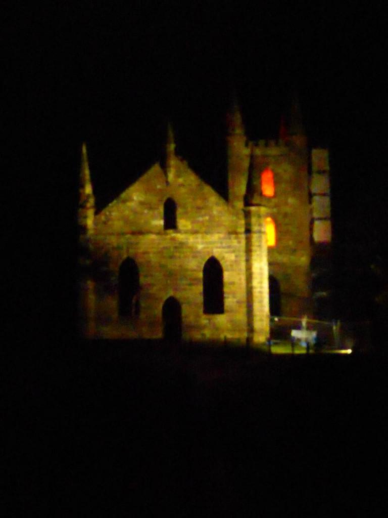 Port Arthur bei Nacht