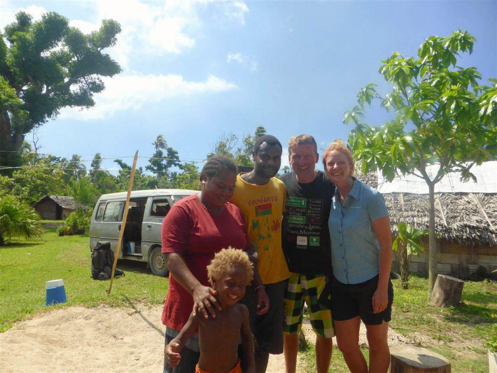 mit Catherine, Willi und dem Neffen