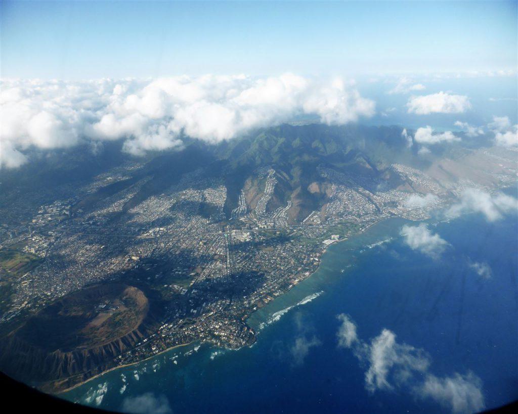 Oahu aus der Luft