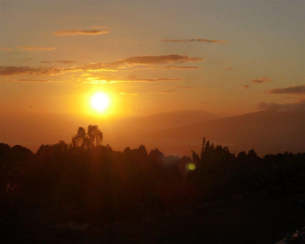Sonnenuntergang von unserem Schlafplatz aus