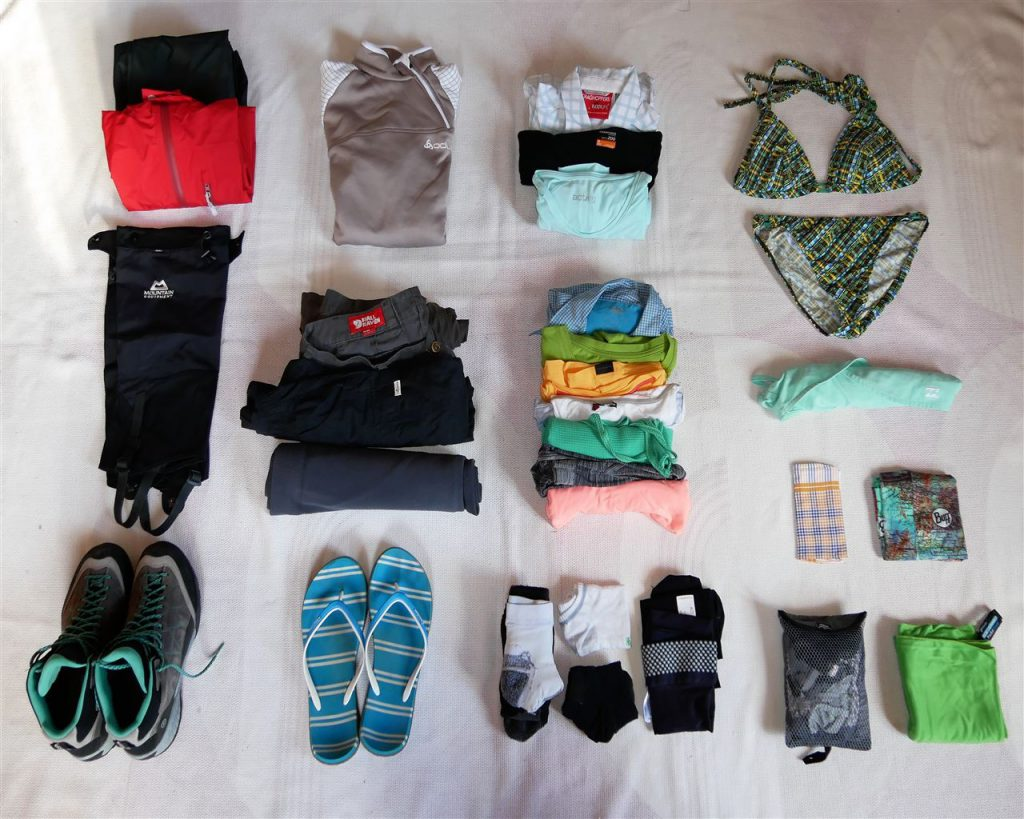 Weltreise Packliste_Kleidung Sabine