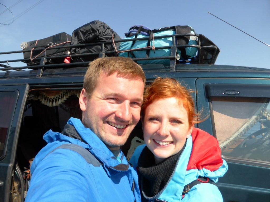 Vor dem Minibus von Olchon nach Irkutsk