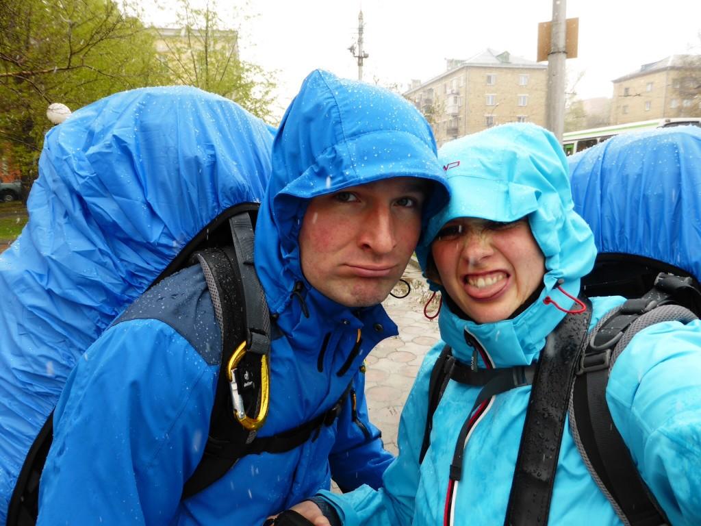 In Krasnojarsk schneit's