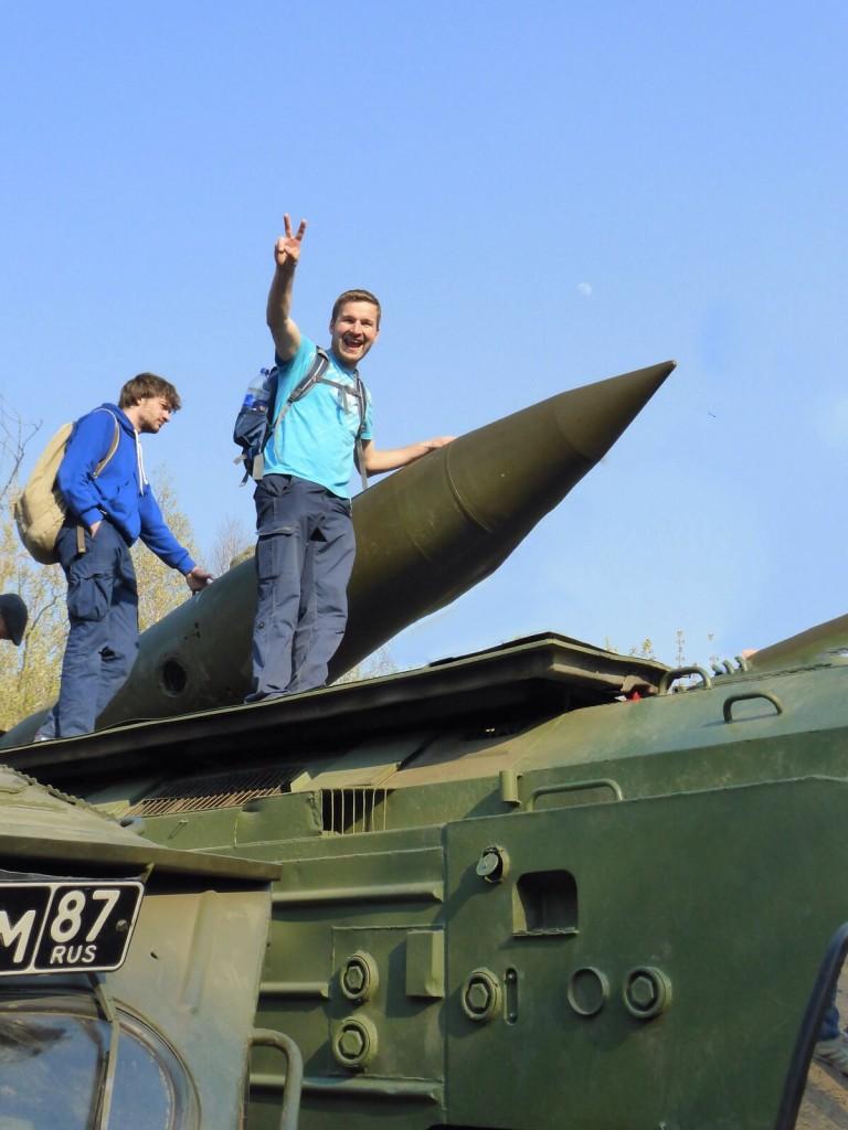 Spielzeug für große Jungs beim Victory Day in Ulan Ude