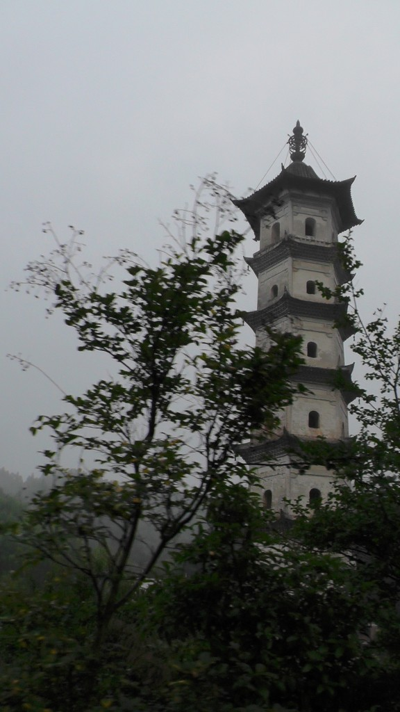 7-stöckige Pagode in Linjiao
