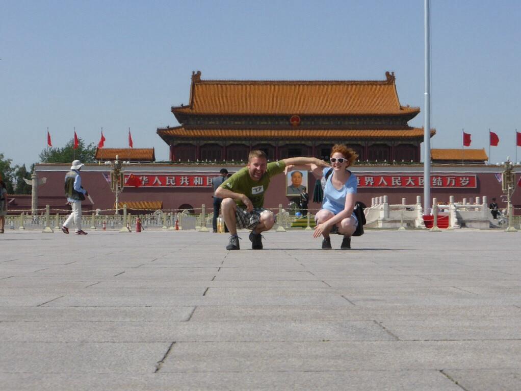 Mit Mao auf dem Platz des himmlischen Friedens