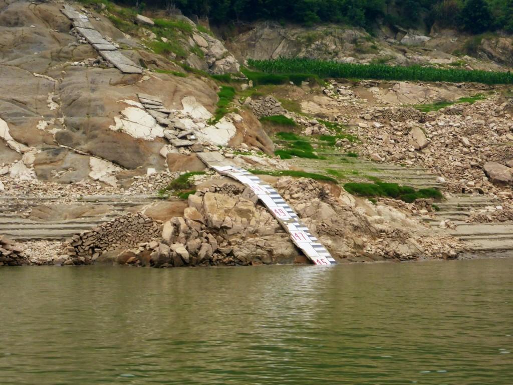 Wasserstand des Stausees