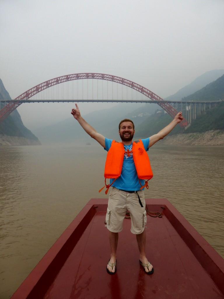 Am 13.6. auf dem Yangtze - da war noch alles gut...