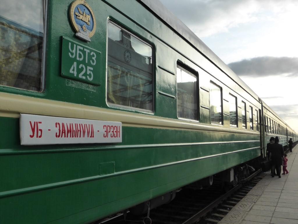 Unser Lokalzug in die Grenzstadt Zhamyn Uud