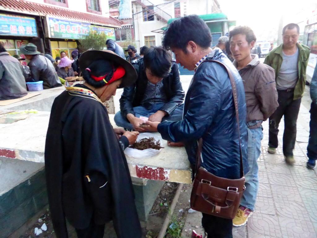 Der Markt am Straßenrand