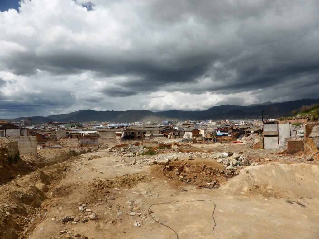 die abgebrannte Altstadt Shangri-La
