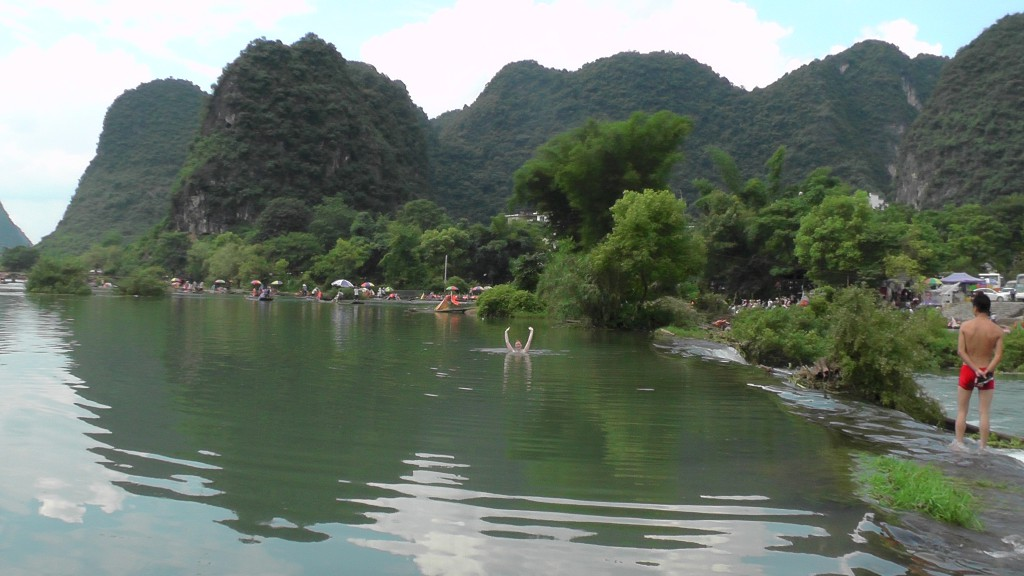 Beim Planschen im Yulong