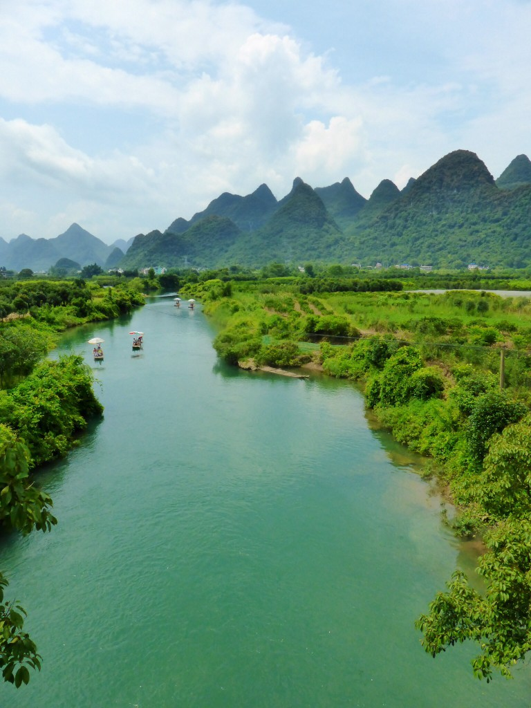 Der malerische Fluss Yulong