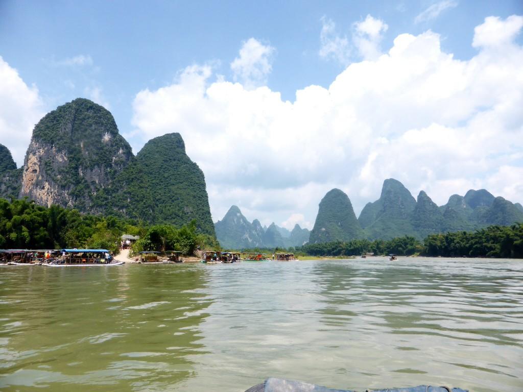 Die Landschaft auf dem 20-RMB-Schein