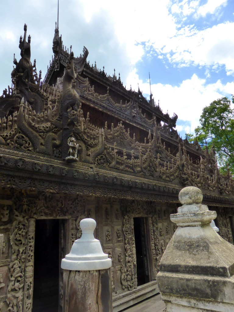 Originalteil-Königspalast im Shwenandaw-Kloster