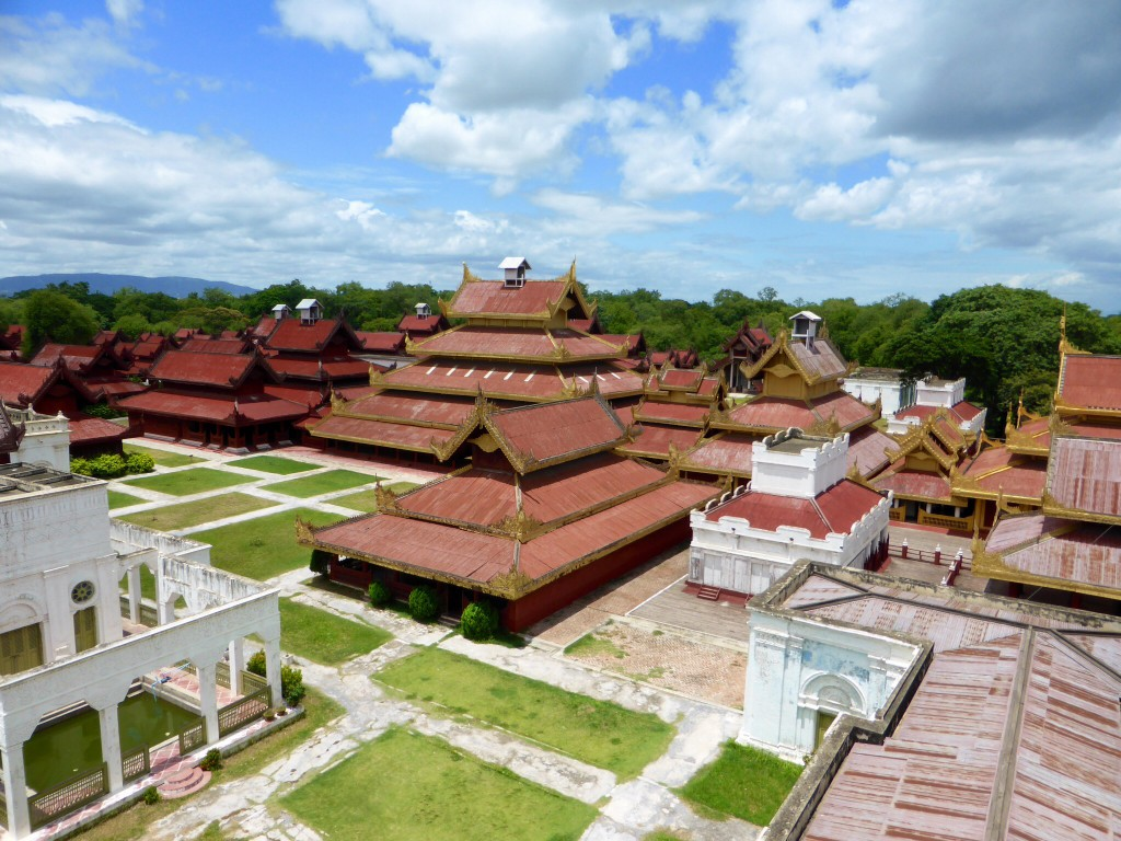 Der Königspalast von oben