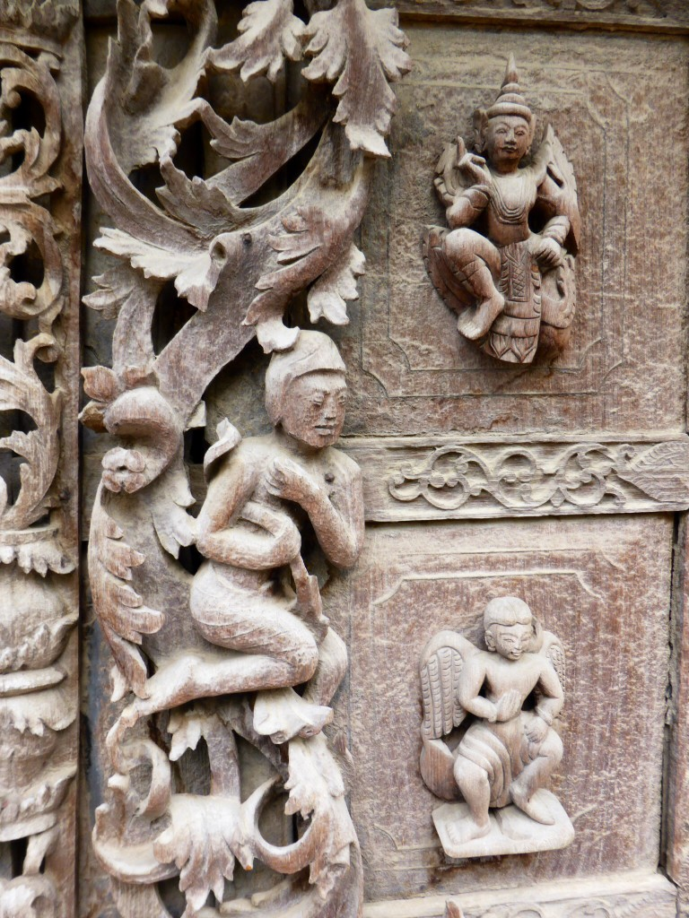 Detail im Originalteil-Königspalast