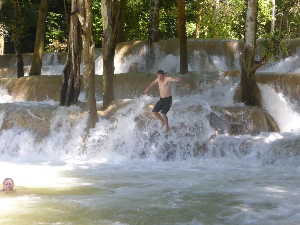 Fun im Wasserfall