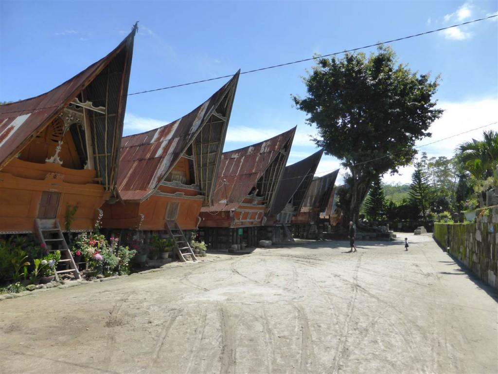 Traditionelle Batak-Häuser im Museums-Dorf