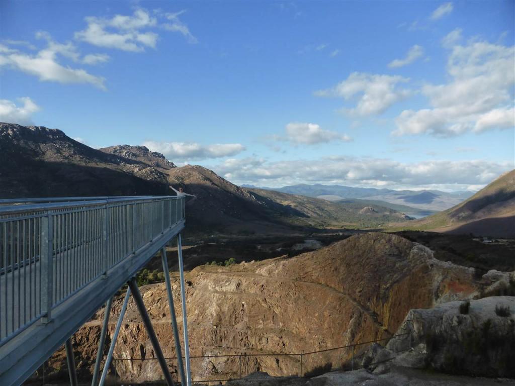 Offene Mine bei Queenstown