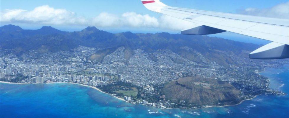 Hawaii von oben - Oahu im Landeanflug