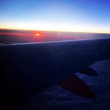 Flug_Sunset